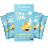 Little Nut, Peanut Banana Nut Butter, Baby and Toddler Snacks, Non-GMO, Reduce Risk of Peanut Allergy, 4 Count
