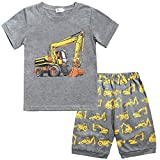 Boys Excavator Pajamas Kids Cotton PJs Children Sleepwear Sets Toddler Clothes Size 2 3