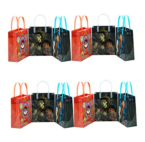 12pcs Coco Disney Pixar Birthday Party Supply Favor Gift Bags Goodie Decoration