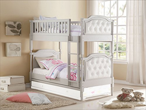 Acme Furniture 37690 Pearlie Twin Over Twin Bunk Bed, Twin/T