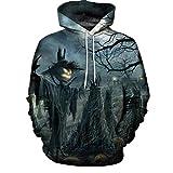 Clearance Sale! Padaleks Men's and Women's 3D Printed Long Sleeve Halloween Sweater Hoodie Sweatshirt Tops
