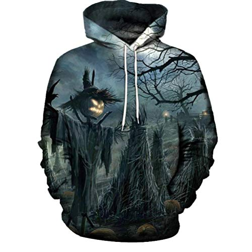 Clearance Sale! Padaleks Men's and Women's 3D Printed Long Sleeve Halloween Sweater Hoodie Sweatshirt Tops by Padaleks Sweater