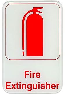 Amazon.com: 6-Piece extintor signos – Signos de PVC para ...
