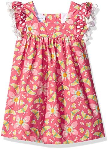 Sundress Bonnie Jean - Bonnie Jean Girls' Toddler Printed Cotton Aline Sundress, Coral, 4T
