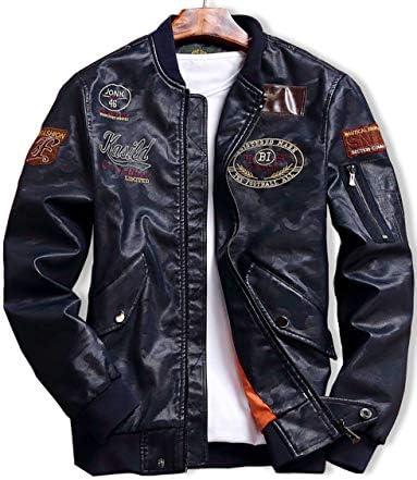 [スロウライド] メンズ レザー ジャケット ジャンパー アウター 防寒 あったか オシャレ カジュアル 大きい サイズ ゆったり