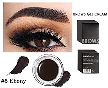 1317cda54f3 SBE FOCALLURE Waterproof Eyebrow Gel Cream, No Dizzy Durable Eyebrow Pomade Eyebrow  Makeup Enhancer (