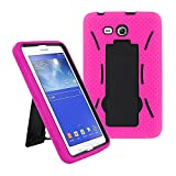 "2014 Samsung Galaxy Tab 3 Lite 7.0 7 inch T110 Case, Kuteck?? Armor Hard Box Hybrid Protective Cover Case w/ Built In Stand for Samsung Galaxy Tab 3 7"" LITE T110- (Doesn't fits samsung tab3 7"" T210 P3200 P3210), Bouns Stylus Touch Screen"