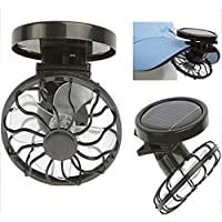 Distinct Mini Fan Solar Energy Powered Clip-on Mini Fans for Outdoor Activities Travel