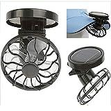 Distinct Mini Fan Solar Energy Powered Clip-on Mini Fans for Outdoor Activities Travel