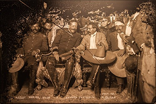 Poster Tomas Urbina, Pancho Villa And Emiliano Zapata In The National Palace, Museum Of