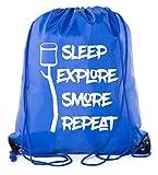 Mato & Hash Camping Drawstring backpack for Birthday parties and Summer Camp - 10PK Royal CA2500Camping S7