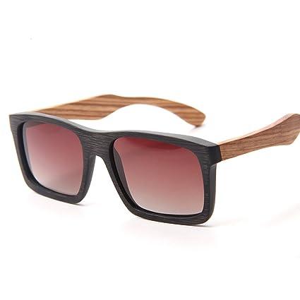 DONG Gafas de sol polarizadas masculinas y femeninas Gafas de bambú de uso general Gafas de