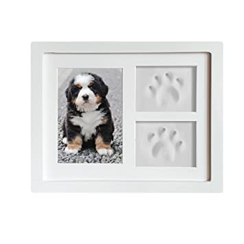e76be30bc53b Dog or Cat Paw Prints Pet memorial Triple Photo Frame 4x6 With Clay  Impression Kit,