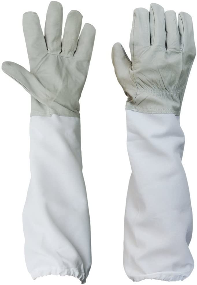 Beekeeper Beekeeping Protective Gloves Goatskin Ventilated Long Sleeves XL Tool