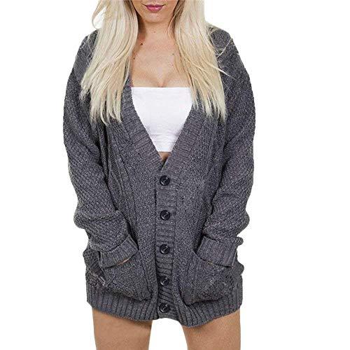 Maniche Dimensione Lavorato Grigio Inverno Lunghe A M Allentato Sweatshirt Sweater Batwing Maglia Cappotto Colore Women Winter Blouse Casual Pullover Camicette Cardigan Ladies 7qYvzxR