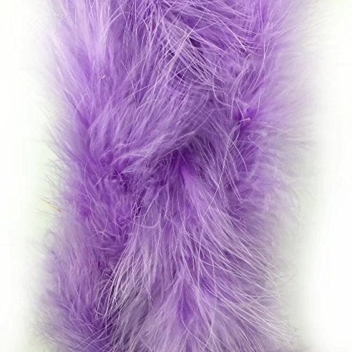 Celine lin 1PC 2yards/Length Dyed Fluffy Feather Boa Loose Turkey Marabou Feather For Party/Costumes/Shawl/Wedding/Home Decorations,Light purple (Turkey Costume Diy)