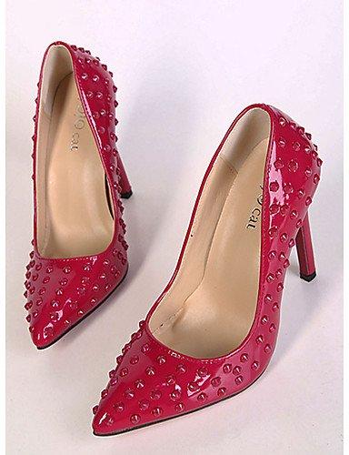 GGX/Damen Schuhe Kunstleder Spring Heels/spitz zulaufender Zehenbereich Heels Party & Abend Stiletto Heel Stift schwarz/rot black-us6.5-7 / eu37 / uk4.5-5 / cn37