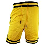 Jordan Craig Poly Mesh Shorts Zippers Yellow