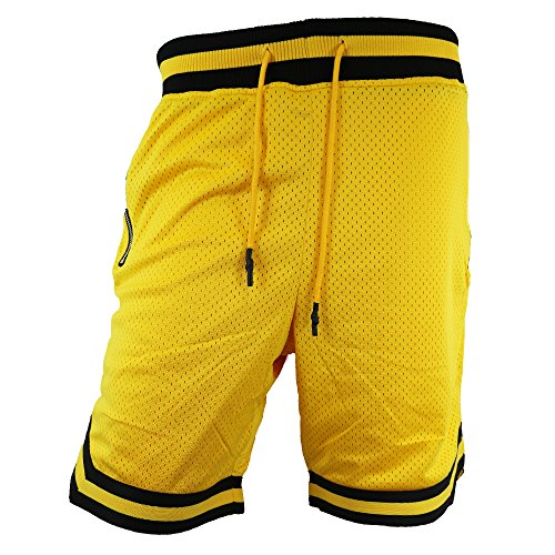 Jordan Craig Poly Mesh Shorts Zippers Yellow by Jordan Craig