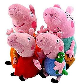 GD Peppa Pig familia de peluche muñeco de peluche George (4 piezas/Direct Hardware