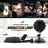Projector Light, MatureGirl LED Projection Night Lamp, 12 Pattern Landscape Lamp Christmas Light Projector for Parties, KTV, Dance Halls, Clubs, Bars, Karaoke, Dance Floor (Multicolor)