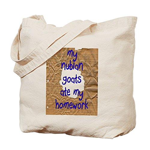 """CafePress Tote Bag-Nubian Ate My Homework """"caprini Tote Bag"""