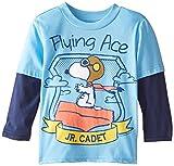 Peanuts Boys' Snoopy Flying Ace Jr. Cadet Boys Two-Fer T-Shirt