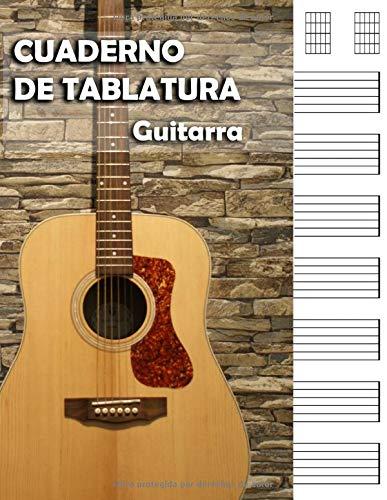 CUADERNO DE TABLATURAS PARA GUITARRA: perfecta para músicos ...