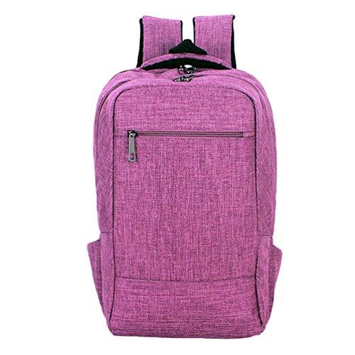 ZKOO Lona Mochilas Estudiante Colegio Mochila Portátil Mochila Backpack Bolsa De Hombro Mochila de Viaje Para Mujeres Hombres Púrpura