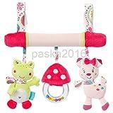 MAZIMARK--Kids Baby Stroller Pushchair Hanging Toys Car Seat Crib Rattles Toys Frog