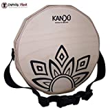 KTÄK -The First Handcrafted, Hand Drum Percussion, Two-Sound Cajón Body Snare, Portable Cajon by Kandu (Natural Wood/Black Logo)