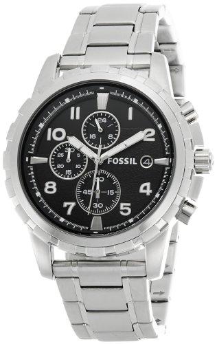 Fossil Men's Dean Chronograph Analog Black Dial Watch