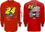 NASCAR Jeff Gordon #24 3M 2015 Schedule Long Sleeve Tee (XXL)