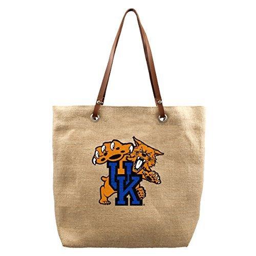 NCAA Kentucky Wildcats Jute Markt Tote, 17x 4,5x 35,6cm, Natural by Little Earth