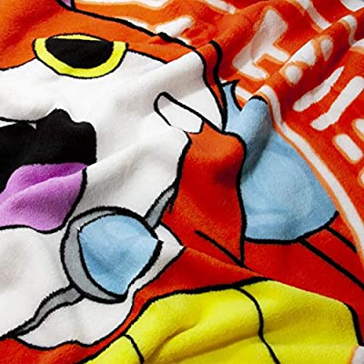 Yo-Kai Watch Jibanyan Lightweight Fleece Throw Blanket | 50 x 60 Inches: Home & Kitchen
