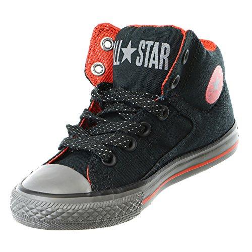 Converse Chuck Taylor All Star Street Mid - Zapatillas para niños BLACK RED THUNDER