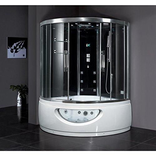 F8 Steam Shower with Whirlpool Bathtub 59x59x89 (Glass Steam Shower)