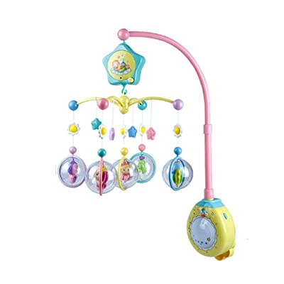 MAJINCGJ Newborn Baby Toy Bed Bell Music Rotating Bedside Bell Toy Baby Comfort Sleep Night Light Rattle Baby Carriage Pendant Newborn Toy Bubble Elf Multifunctional Baby Bed Bell : Baby [5Bkhe0503874]