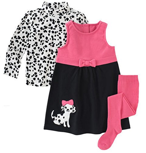 Gymboree Girls Pink Dalmation Jumper Dress (6, Pink) ...