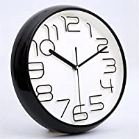 Imoerjia Wall Clock Mute Wall Clock Living Room Bedroom Wall Table Creative Stereo Field Watches