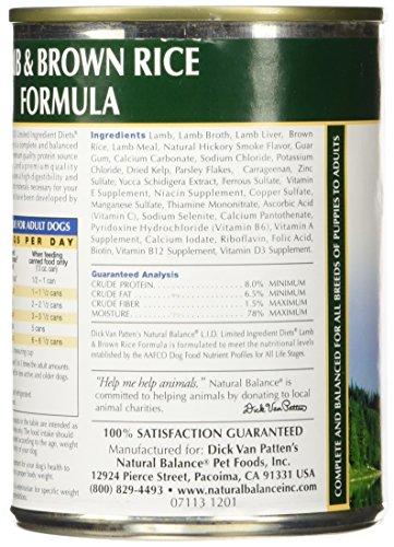 Natural Balance Lamb & Rice Formula Dog Food, 13 oz, Pack of 12 by Natural Balance (Image #5)
