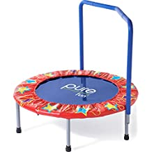 """Pure Fun Kids 36"""" Mini Trampoline with Handrail, Youth Ages 3 to 8"""