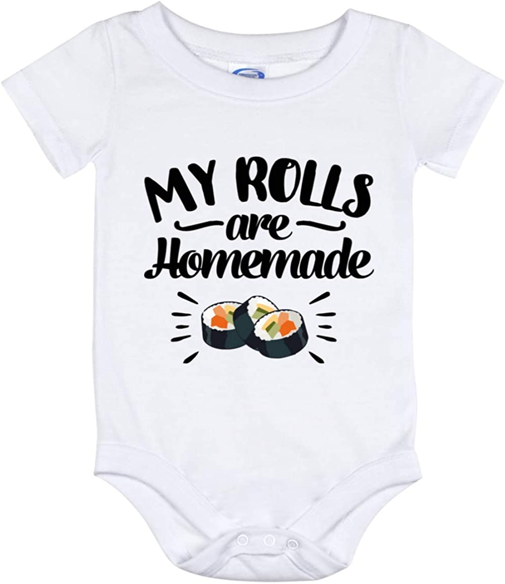 My Rolls are Homemade Baby Bodysuit, Sushi Food Pun Toddler Outfit, Infant Cloth, Newborn Jumpsuit