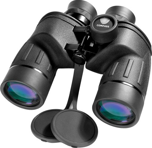 BARSKA Battalion 7x50 Close Focus Binoculars with Internal Rangefinder And Compass