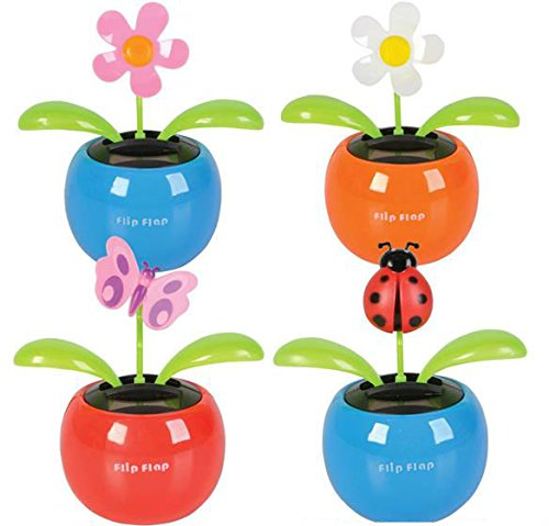 Solar Powered Moving Flower Pots Case Pack 96 , Kid ,Toy , Hobbie , Nice Gift