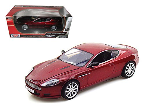 Motormax 73174 2004 Aston Martin DB9 Coupe Blue 1/18 Diecast Car Model