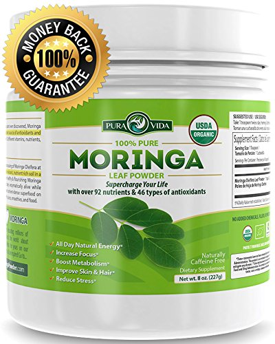 Organic Moringa Powder | Sourced Monthly To Guarantee Maximum, Farm-Fresh Potency | Energy, Metabolism, and Immune Booster. Natural Anti-Inflammatory. Rich In Nutrients and Antioxidants
