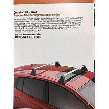 Amazon Com Subaru E361sfl100 Fixed Crossbar Automotive
