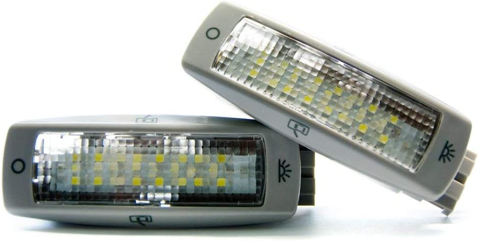 2 x LED Innenraum-leuchte Roof Dome Innenraumbeleuchtung Xenon 6000K