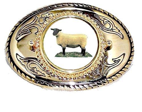SUFFOLK SHEEP RAM LAMB WESTERN 4H FFA BELT BUCKLE